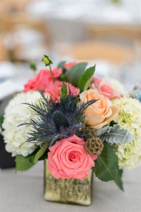 navy and coral wedding centerpieces 1000 ideas about coral centerpieces on