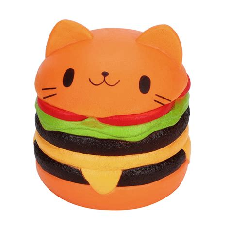 Squishy Burger Jumbo cat hamburger jumbo rising squishy 163 7 99 buy at