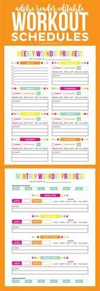 workout timetable template editable printable workout schedule printable crush