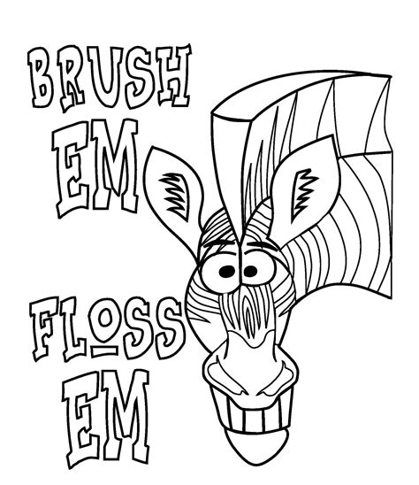 dental coloring pages for toddlers dental tools coloring pages