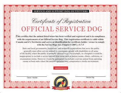 printable service dog id cards canadian service dog emotional and therapy service dog