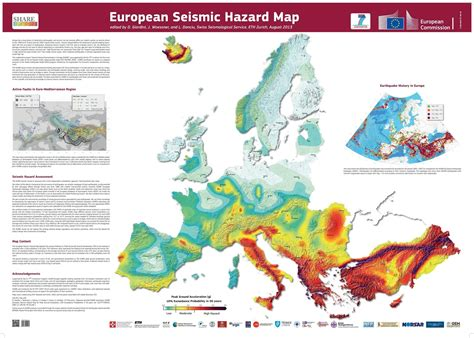 updated earthquake map shakes up risk zones european seismic hazard map ecoclimax