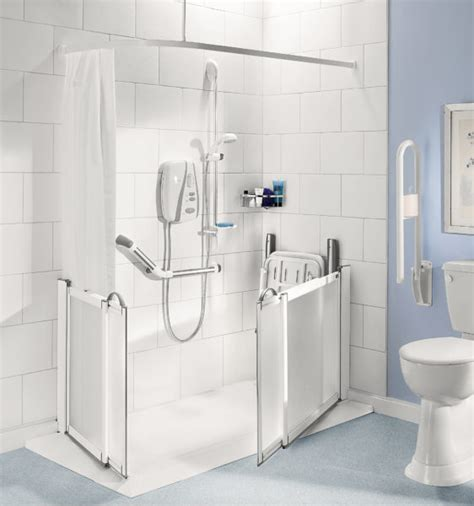 Disabled Half Height Shower Doors by Impey Half Height Shower Doors Practical Bathing
