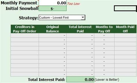 Free Debt Reduction Calculator Debt Reduction Template