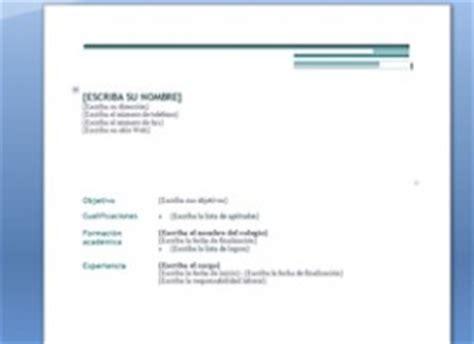 Modelo De Curriculum Vitae No Documentado 2014 Curr 237 Culum Vitae Para Completar