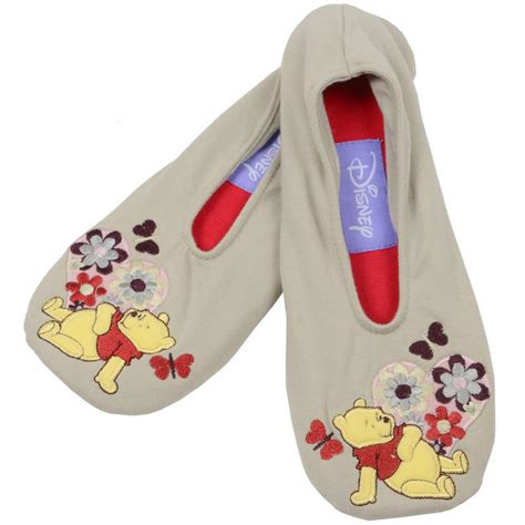 winnie the pooh house shoes womens totes toasties disney winnie the pooh piglet eeyore non slip ballet slippers new