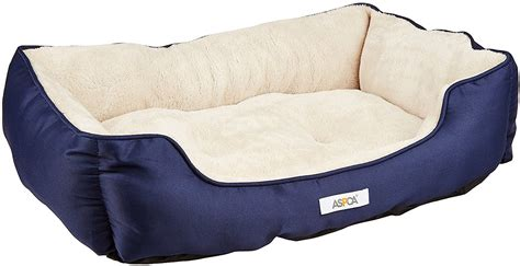 bedside dog bed aspca microtech cuddler dog bed blue chewy com