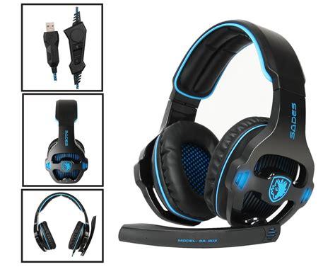 Headset Gaming Sades Sa 903 sades sa 903 7 1 surround bass headband pro gaming usb headset for pc laptop