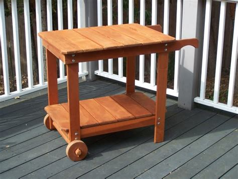 Rolling Dining Room Chairs by Rolling Redwood Bbq Or Tea Cart Gold Hill Redwood Products