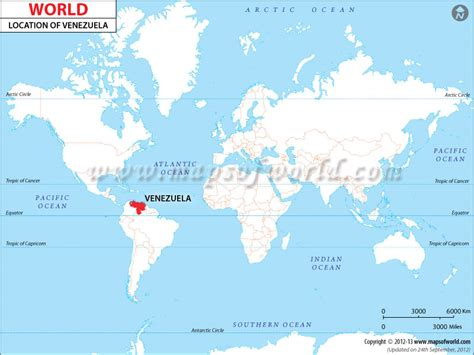 Venezuela On World Map by Where Is Venezuela Location Of Venezuela