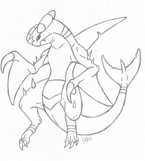 pokemon coloring pages garchomp garchomp linework by kingdragonart on deviantart