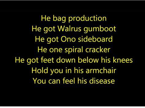 beatles lyrics the beatles come together lyrics