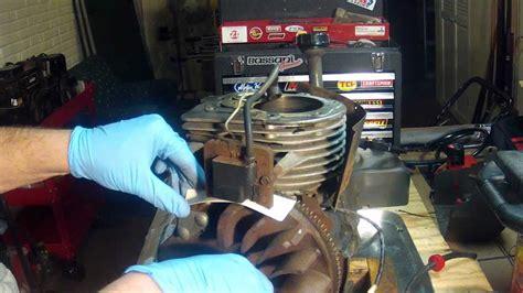 tecumseh hm engine part  flywheel removal