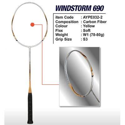 Raket Lining Windstorm 690 li ning racket windstorm 690 sport sarko