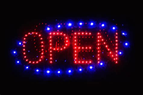 Led Sign Open led open sign free stock photo domain pictures
