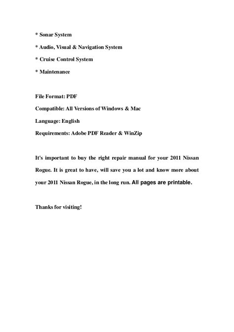 old car owners manuals 2011 nissan rogue parking system 2011 nissan rogue service repair manual download