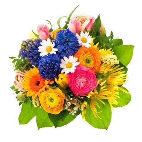beautiful bouquet florist flower shop florist in beautiful bouquet of colorful spring flowers stock photo