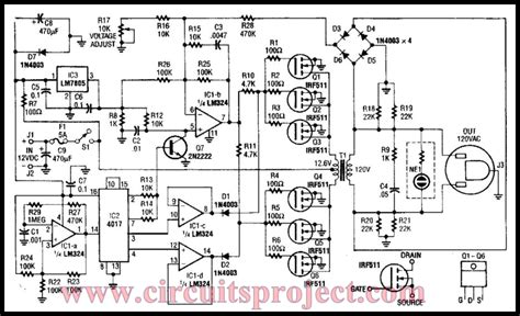 free inverter circuit diagram simple 40w 120vac inverter circuit diagram nonstop free