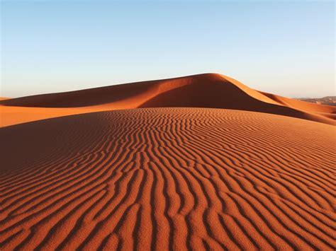 Sahara Desert Snow by Desert Sand Dunes