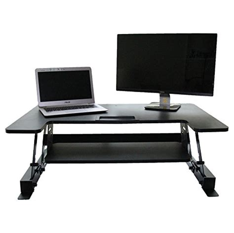 Convert Sit Desk To Stand Up by Height Adjustable Elevating Standing Desk Converter 36