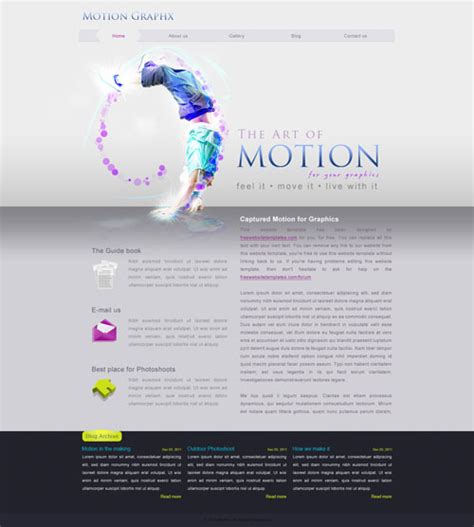 motion templates free ready motion website template free website templates