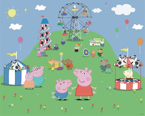 Paint Kitchen Cabinets by Peppa Pig Wall Mural Departments Diy At B Amp Q