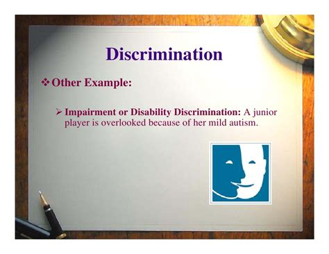 exles of discrimination