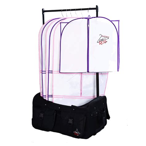 Suitcase With Garment Rack by Rac N Roll Garment Bag