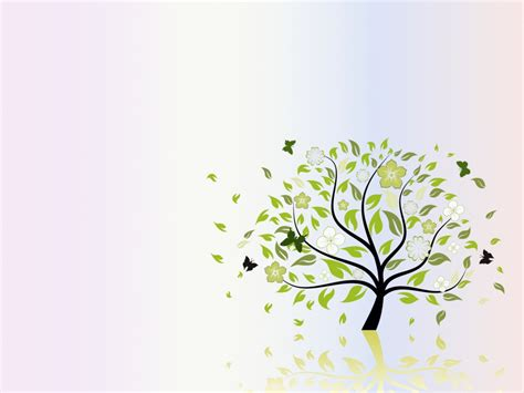 folio tree nature ppt backgrounds green nature