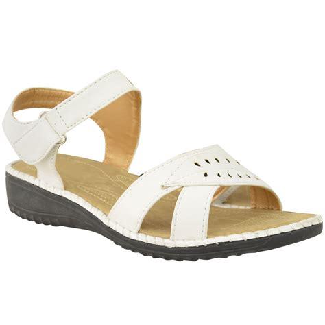 wide sandals womens womens comfort wide casual walking flat summer