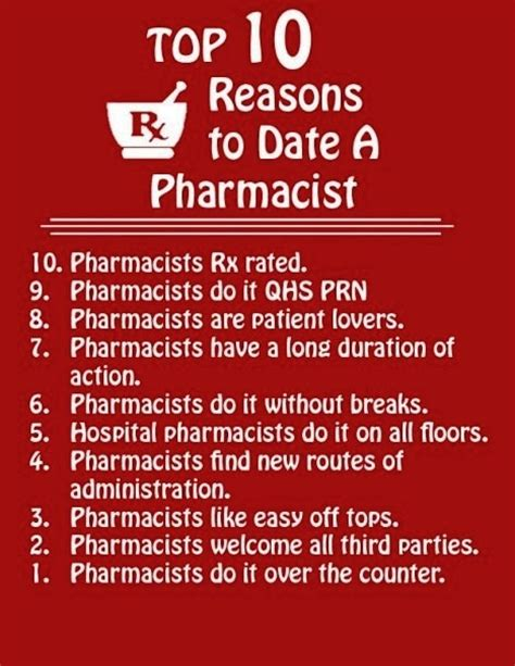 8 Reasons To Date A Than You by Top 10 Reasons To Date A Pharmacist D Science Pharmacy
