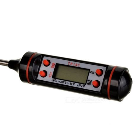 Produk Terlaris Thermometer Oven Termometer 300 Celcius 0 9 quot lcd digital thermometer for oven black free