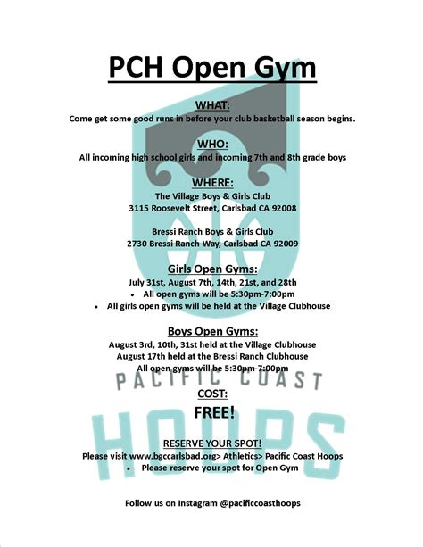 Is Pch Open - pacific coast hoops