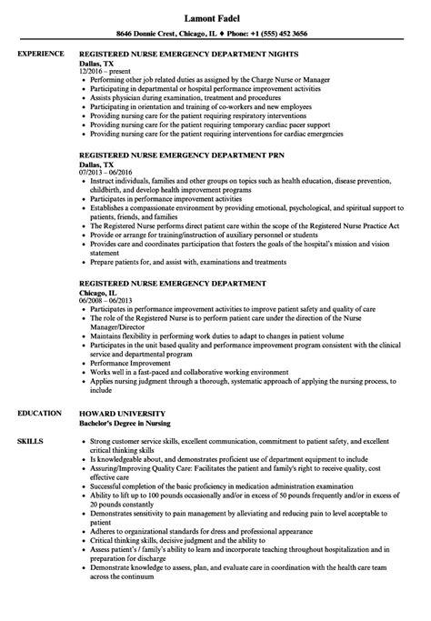 Velvetjobs Resume Builder by Registered Nurse Emergency Department Resume Samples Velvet Jobs