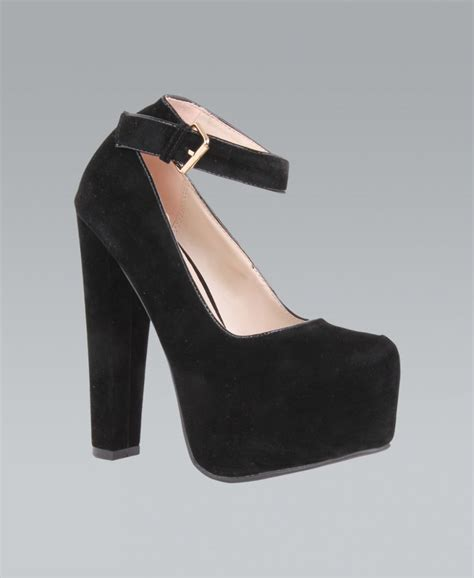 platform black high heels krisp ankle black suede platform high heels krisp