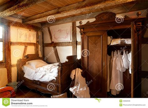 Country Farm House Plans 19th century bedroom royalty free stock photo image