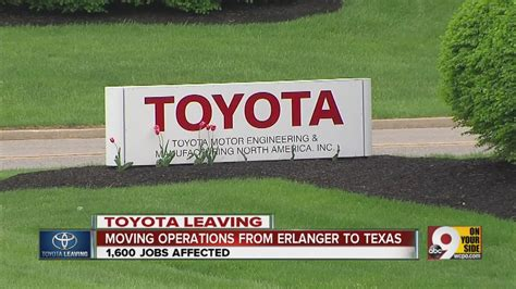 Toyota Ky Toyota Motor Corp To Leave Erlanger Kentucky