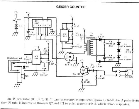 geiger counter diagram geiger counter schematic radio shack geiger counter