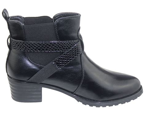 womens ankle boots low heel chelsea high top casual