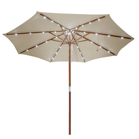 Patio Umbrella Solar Lights Amazing Patio Umbrella With Solar Lights 6 Ft Patio Wooden Market Outdoor Umbrella W Solar Led