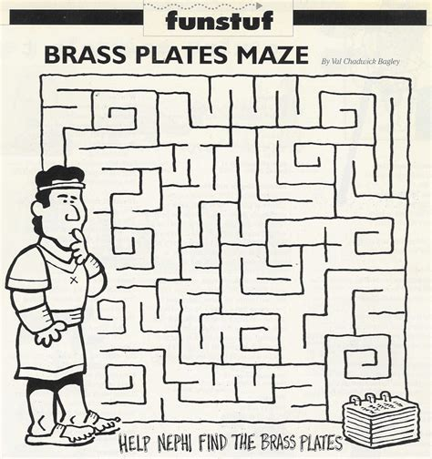 printable lds mazes obtaining the brass plates