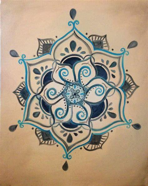mandala tattoo etsy henna budista inspirado lotus pintura por shantiwinds en