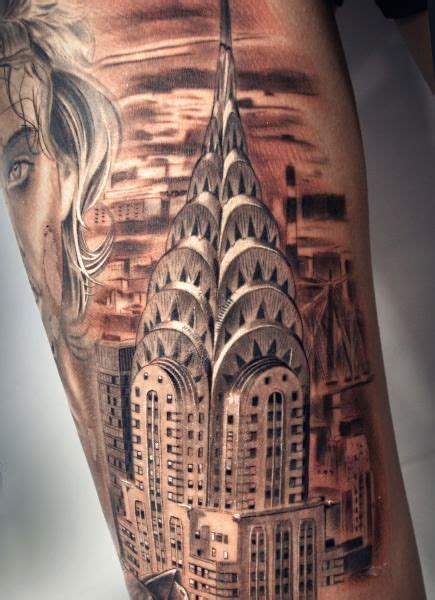 empire state tattoo 2i tattoos and architecture empire state design