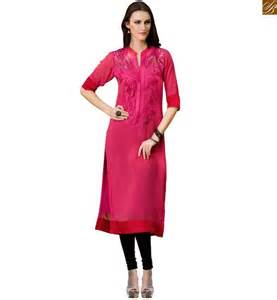 indian long kurtis designer georgette latest tops