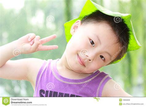 leaf boys model asian boy with leaf cap royalty free stock photos image