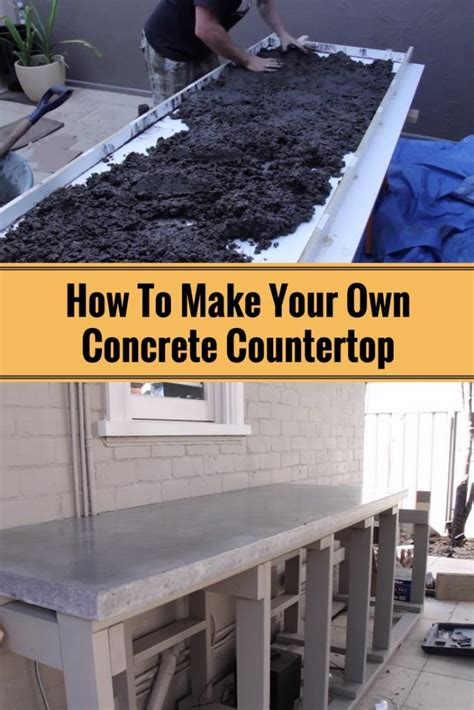 How To Make Concrete Countertops by How To Make Your Own Concrete Countertop Home And Gardening Ideas