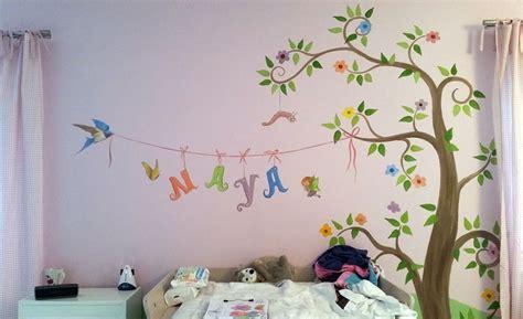 kinderzimmer wandbemalung baum kinderzimmer malereien mit wunschmotiven f 252 r ihre kleinen