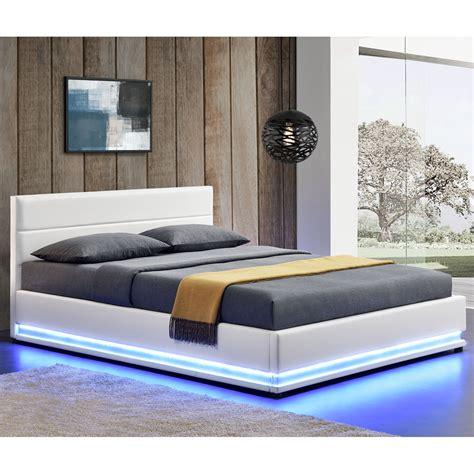 schlaf bett 140x200 polsterbett kunstlederbett bettkasten mit led bettgestell