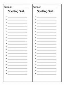 spelling list template the world s catalog of ideas
