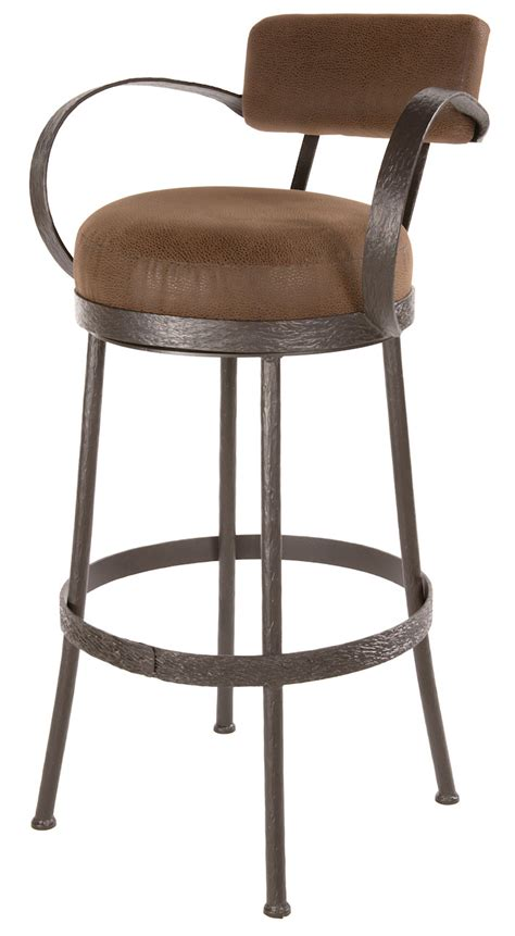 cedarvale armed iron bar stool 25 inch